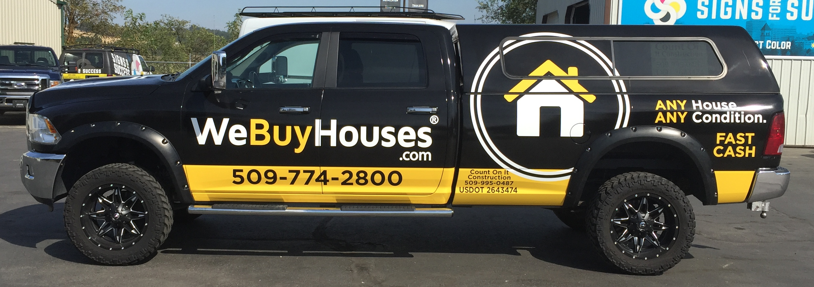 Car & Truck Wraps | We Buy Houses® Marketing Portal