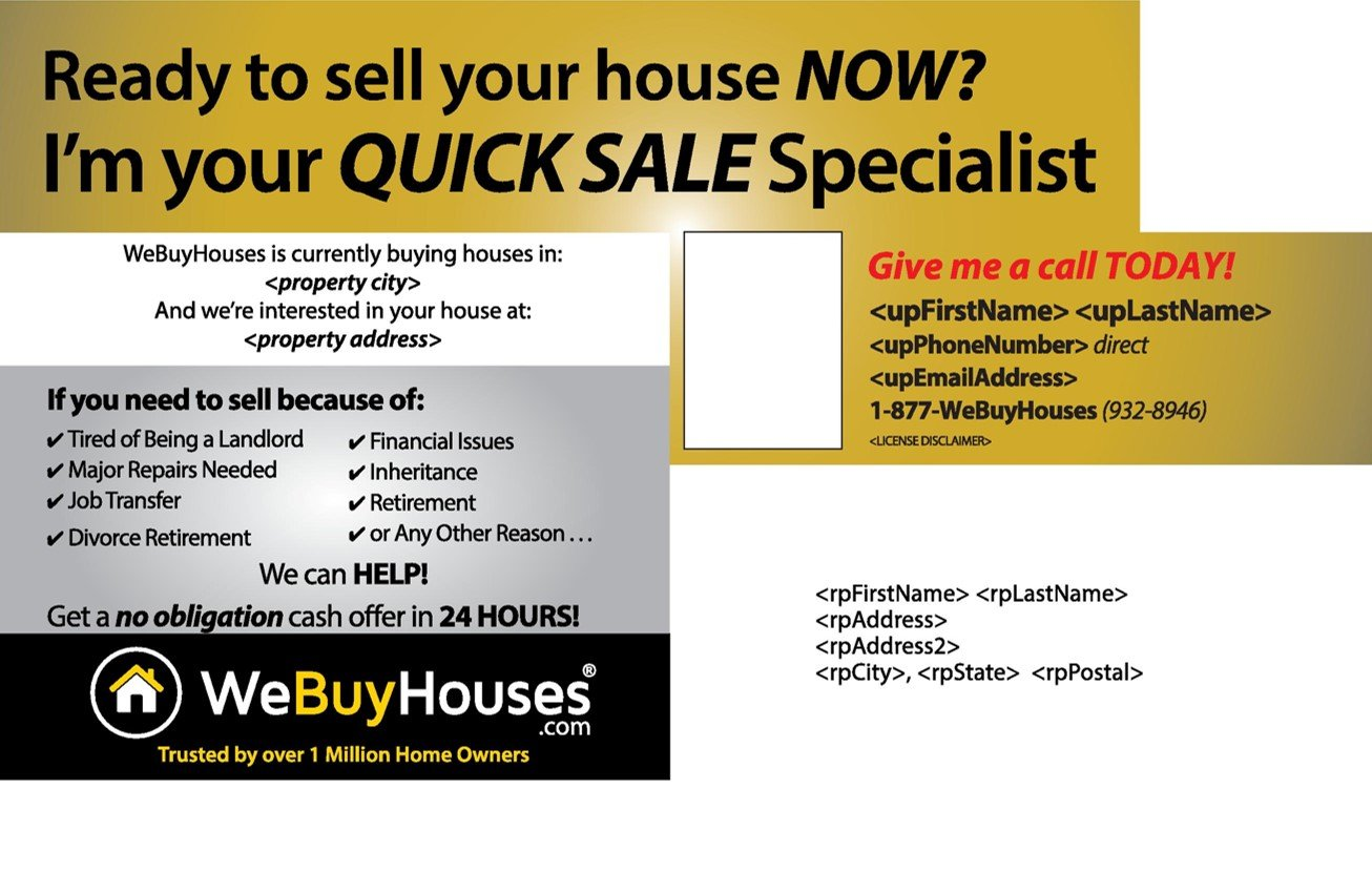 ANY HOUSE Postcard Series | We Buy Houses Marketing Portal