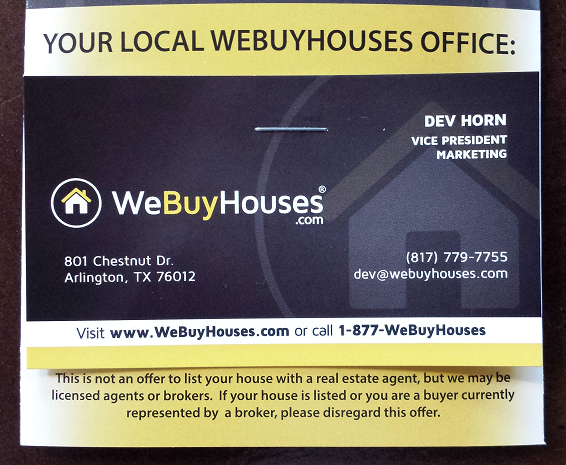 Brochures We Buy Houses 174 Marketing Portal